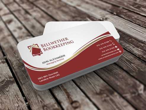 Bellwether Bookkeeping, Inc. Business Cards and Stationery  Draft # 94 by Dawson