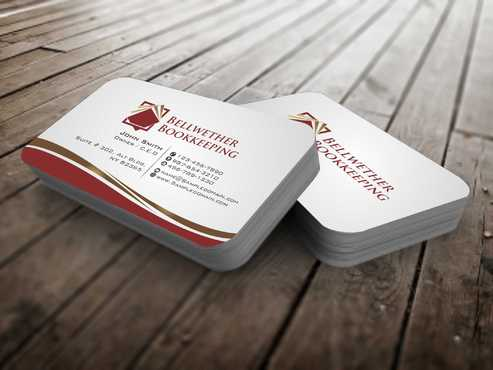 Bellwether Bookkeeping, Inc. Business Cards and Stationery  Draft # 96 by Dawson