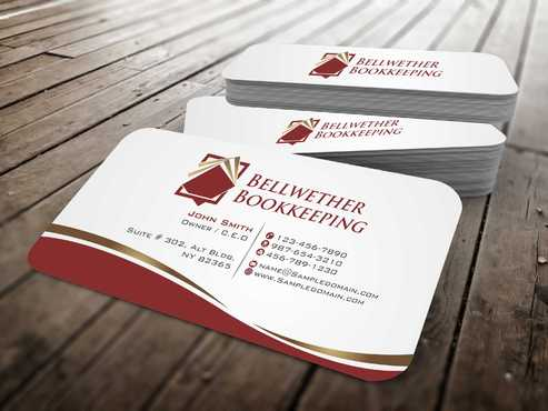 Bellwether Bookkeeping, Inc. Business Cards and Stationery  Draft # 97 by Dawson