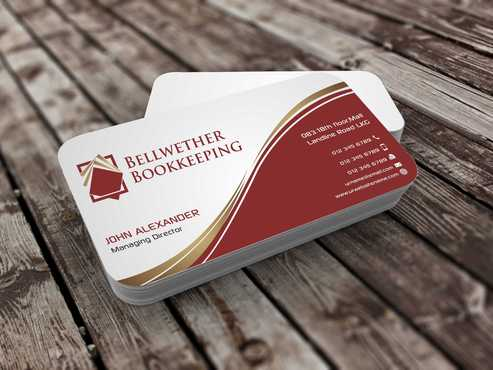Bellwether Bookkeeping, Inc. Business Cards and Stationery  Draft # 98 by Dawson