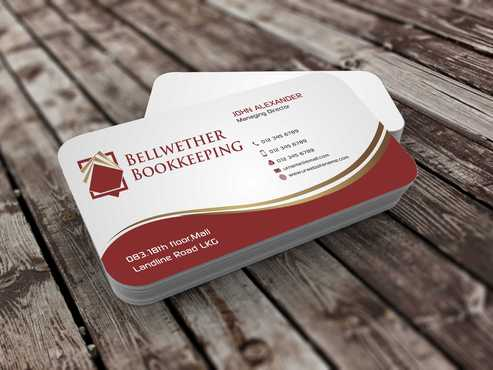 Bellwether Bookkeeping, Inc. Business Cards and Stationery  Draft # 100 by Dawson