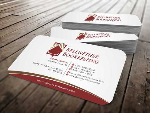 Bellwether Bookkeeping, Inc. Business Cards and Stationery  Draft # 102 by Dawson