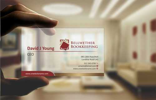 Bellwether Bookkeeping, Inc. Business Cards and Stationery  Draft # 103 by Dawson