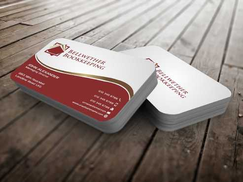 Bellwether Bookkeeping, Inc. Business Cards and Stationery  Draft # 104 by Dawson