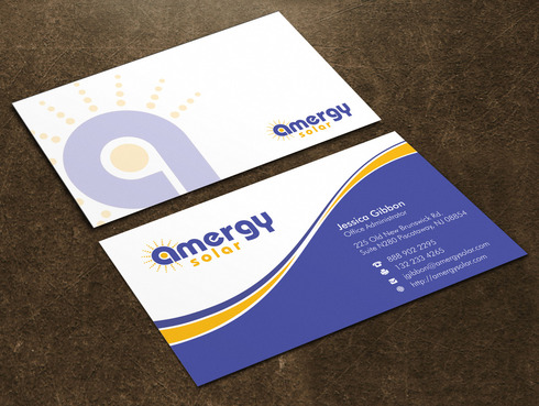 Amergy Solar Business Cards and Stationery  Draft # 1 by Xpert