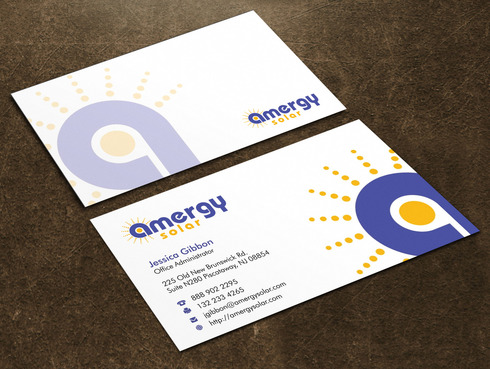 Amergy Solar Business Cards and Stationery  Draft # 2 by Xpert