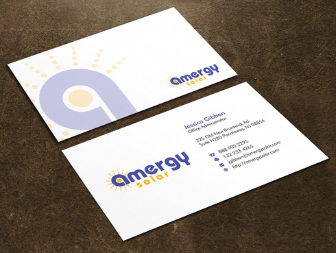 Amergy Solar Business Cards and Stationery  Draft # 3 by Xpert