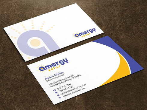Amergy Solar Business Cards and Stationery  Draft # 4 by Xpert