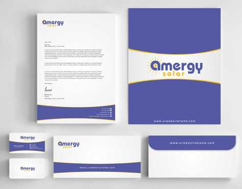 Amergy Solar Business Cards and Stationery Winning Design by Dawson