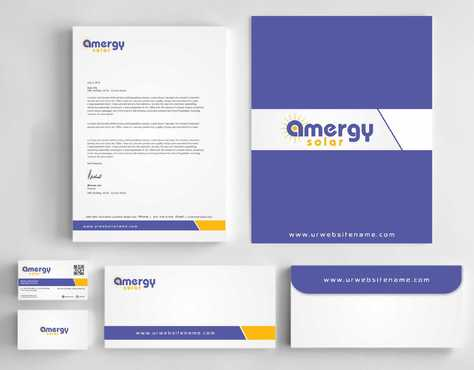 Amergy Solar Business Cards and Stationery  Draft # 271 by Dawson