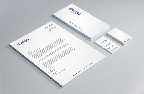 Amergy Solar Business Cards and Stationery  Draft # 272 by Dawson