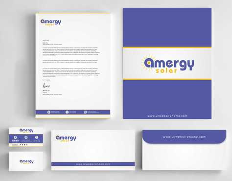 Amergy Solar Business Cards and Stationery  Draft # 273 by Dawson