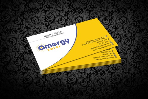Amergy Solar Business Cards and Stationery  Draft # 300 by nfmdesigner