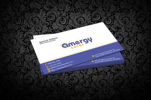 Amergy Solar Business Cards and Stationery  Draft # 301 by nfmdesigner