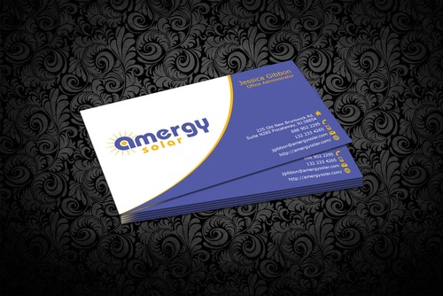 Amergy Solar Business Cards and Stationery  Draft # 302 by nfmdesigner