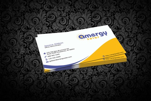 Amergy Solar Business Cards and Stationery  Draft # 303 by nfmdesigner