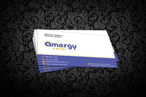 Amergy Solar Business Cards and Stationery  Draft # 304 by nfmdesigner