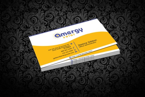Amergy Solar Business Cards and Stationery  Draft # 306 by nfmdesigner