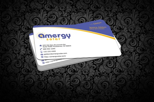 Amergy Solar Business Cards and Stationery  Draft # 307 by nfmdesigner