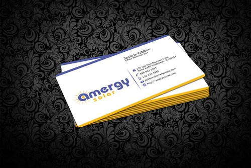 Amergy Solar Business Cards and Stationery  Draft # 313 by nfmdesigner