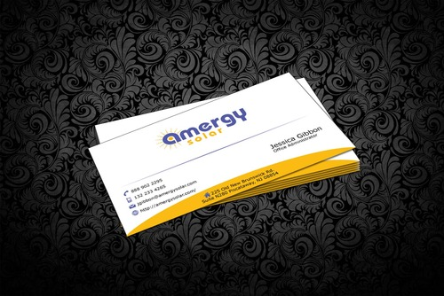 Amergy Solar Business Cards and Stationery  Draft # 317 by nfmdesigner
