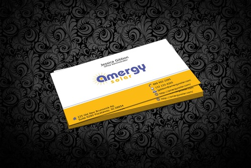 Amergy Solar Business Cards and Stationery  Draft # 318 by nfmdesigner