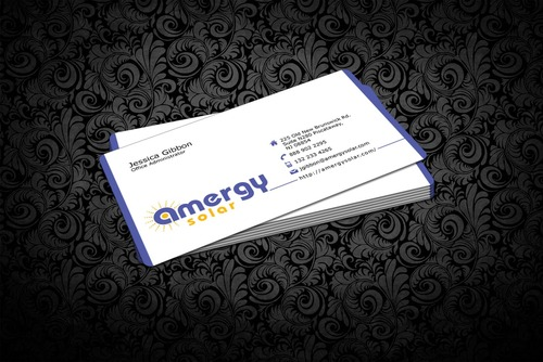Amergy Solar Business Cards and Stationery  Draft # 320 by nfmdesigner