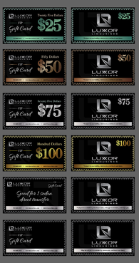 Limo Company Gift Cards (currency theme) - $25, $50, $75, $100