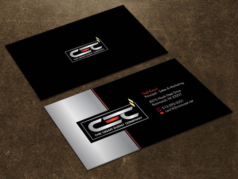 The Cigar Event Company Business Cards and Stationery  Draft # 38 by Xpert