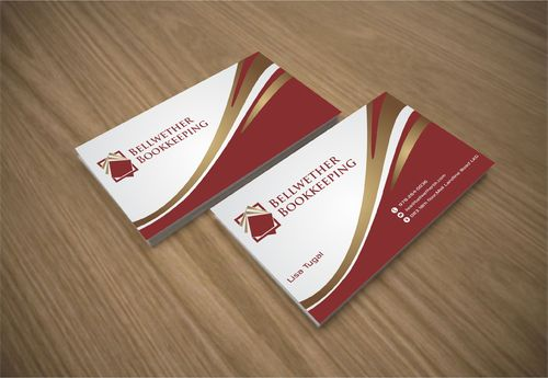 Bellwether Bookkeeping, Inc. Business Cards and Stationery  Draft # 415 by Dawson