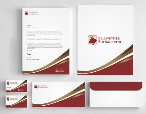 Bellwether Bookkeeping, Inc. Business Cards and Stationery  Draft # 416 by Dawson