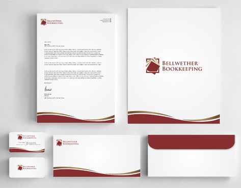 Bellwether Bookkeeping, Inc. Business Cards and Stationery  Draft # 418 by Dawson