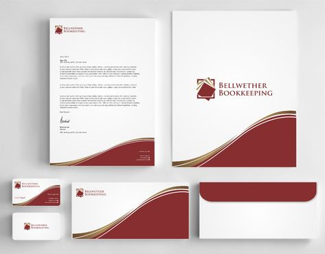 Bellwether Bookkeeping, Inc. Business Cards and Stationery  Draft # 421 by Dawson