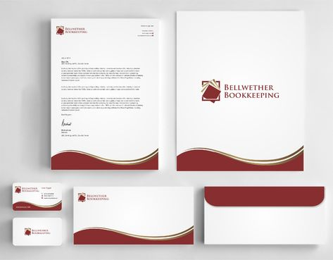 Bellwether Bookkeeping, Inc. Business Cards and Stationery  Draft # 422 by Dawson