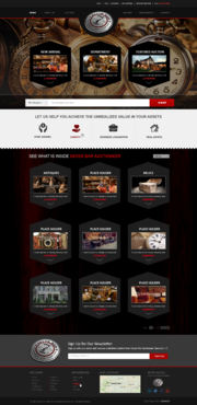 Seven Bar Auctioneer Services LLC Complete Web Design Solution Winning Design by sibytgeorge
