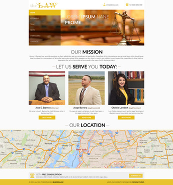 J. Barrera Law  Complete Web Design Solution  Draft # 75 by Huzefa87