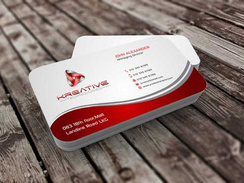 Kreative Technologies Business Cards and Stationery  Draft # 54 by Dawson