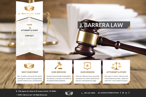 J. Barrera Law  Complete Web Design Solution Winning Design by jogdesigner