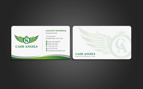 Cash Angels Business Cards and Stationery  Draft # 490 by einsanimation