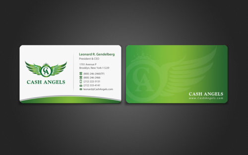 Cash Angels Business Cards and Stationery  Draft # 494 by einsanimation