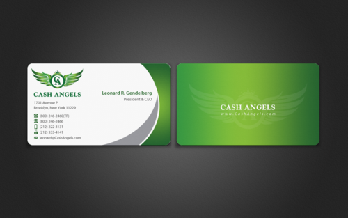 Cash Angels Business Cards and Stationery  Draft # 500 by einsanimation