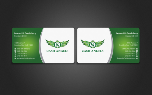 Cash Angels Business Cards and Stationery  Draft # 505 by einsanimation