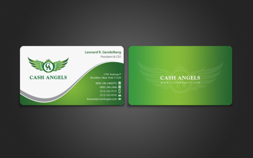 Cash Angels Business Cards and Stationery  Draft # 504 by einsanimation