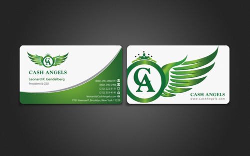 Cash Angels Business Cards and Stationery  Draft # 508 by einsanimation