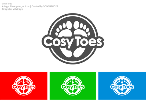 Cosy Toes A Logo, Monogram, or Icon  Draft # 14 by validesign