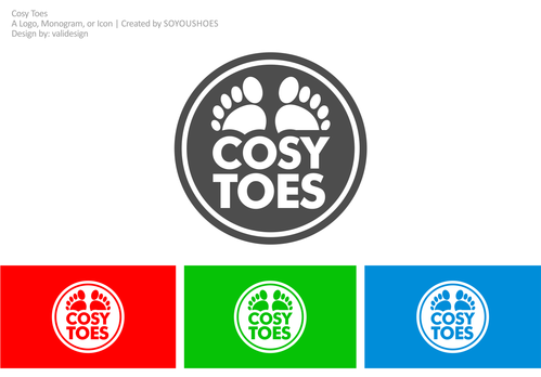 Cosy Toes A Logo, Monogram, or Icon  Draft # 15 by validesign