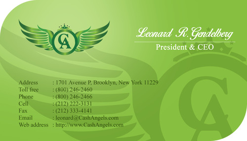Cash Angels Business Cards and Stationery  Draft # 515 by Hariyanto