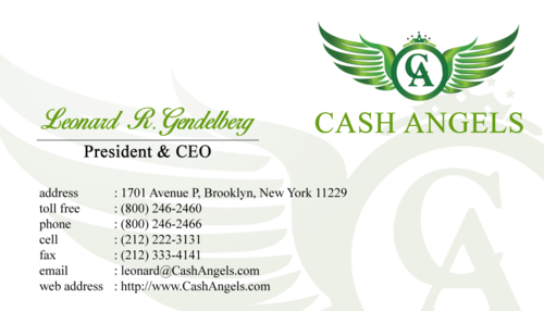 Cash Angels Business Cards and Stationery  Draft # 520 by Hariyanto
