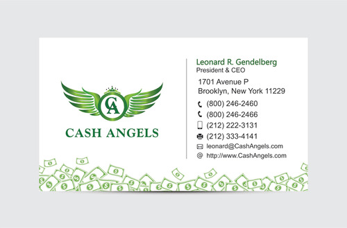 Cash Angels Business Cards and Stationery  Draft # 609 by vdhadse