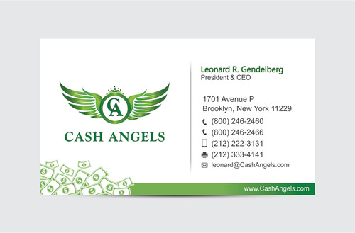 Cash Angels Business Cards and Stationery  Draft # 610 by vdhadse